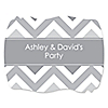 Chevron Gray - Personalized Everyday Party Squiggle Stickers - 16 ct