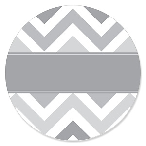 Chevron Gray - Party Theme