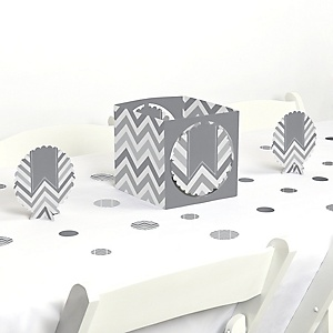 Chevron Gray - Baby, Bridal Shower or Birthday Party Centerpiece and Table Decoration Kit