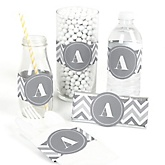 Chevron Gray - DIY Party Wrappers - 15 ct