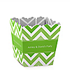 Chevron Green - Personalized Everyday Party Candy Boxes