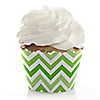 Chevron Green - Everyday Party Cupcake Wrappers & Decorations