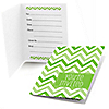 Chevron Green - Everyday Party Fill In Invitations - 8 ct