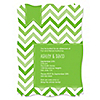 Chevron Green - Personalized Everyday Party Invitations