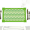 Chevron Green - Personalized Everyday Party Placemats