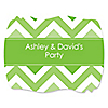 Chevron Green - Personalized Everyday Party Squiggle Stickers - 16 ct