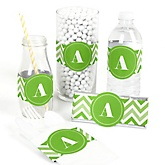 Chevron Green - DIY Party Wrappers - 15 ct