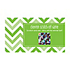 Chevron Green - Personalized Everyday Party Game Scratch Off Cards - 22 ct