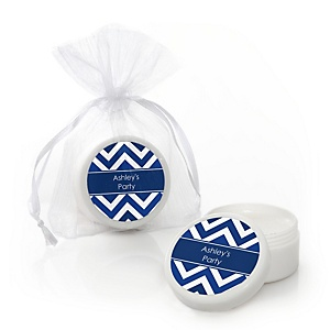 Chevron Navy - Personalized Party Lip Balm Favors