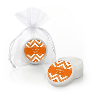 Chevron Orange - Personalized Party Lip Balm Favors