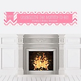 Chevron Pink - Personalized Baby Shower Banners