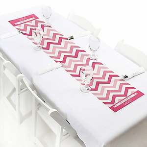 Chevron Pink - Personalized Party Table Runner