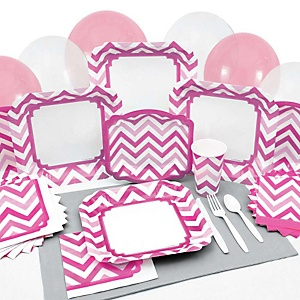 Chevron Pink - Party Tableware