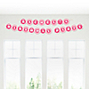 Chevron Pink - Personalized Birthday Party Garland Letter Banner