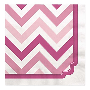 Chevron Pink - Party Luncheon Napkins - 16 ct