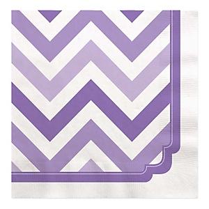 Chevron Purple - Baby Shower Luncheon Napkins - 16 ct