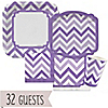 Chevron Purple - Everyday Party 32 Big Dot Bundle