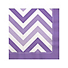 Chevron Purple - Everyday Party Beverage Napkins - 16 ct