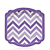 Chevron Purple - Everyday Party Dessert Plates - 8 ct