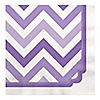 Chevron Purple - Everyday Party Luncheon Napkins - 16 ct