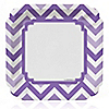 Chevron Purple - Everyday Party Dinner Plates - 8 ct