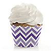 Chevron Purple - Everyday Party Cupcake Wrappers & Decorations