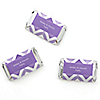 Chevron Purple - Personalized Everyday Party Mini Candy Bar Wrapper Favors - 20 ct