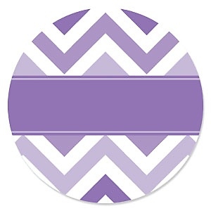 Chevron Purple - Party Theme