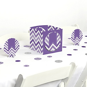 Chevron Purple - Baby, Bridal Shower or Birthday Party Centerpiece and Table Decoration Kit