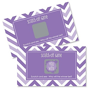 Chevron Purple - Party Game Scratch Off Cards - 22 ct