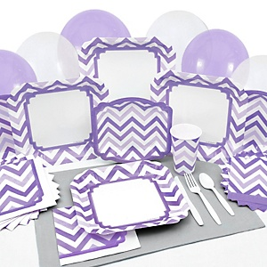 Chevron Purple - Party Tableware