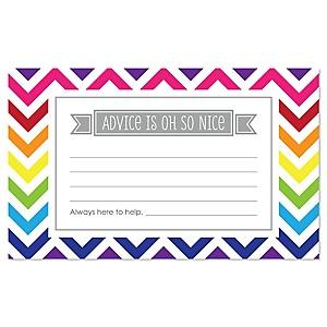 Chevron Rainbow - Party Advice Cards - 18 ct.