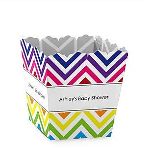 Rainbow Chevron - Personalized Baby Shower Candy Boxes