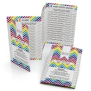 Chevron Rainbow - Personalized Baby Shower Fabulous 5 Games