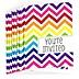 Chevron Rainbow - Baby Shower Fill In Invitations - 8 ct