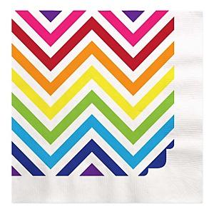 Chevron Rainbow - Baby Shower Luncheon Napkins - 16 ct