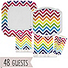 Chevron Rainbow - Everyday Party 48 Big Dot Bundle