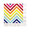 Chevron Rainbow - Everyday Party Beverage Napkins - 16 ct