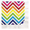 Chevron Rainbow - Everyday Party Luncheon Napkins - 16 ct