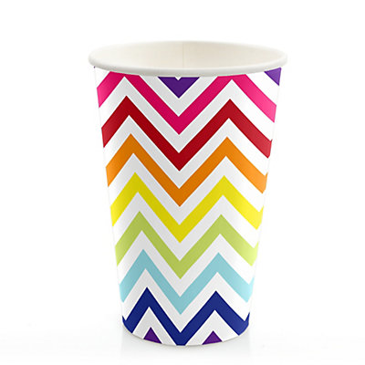 chevron rainbow bridal shower hotcold cups 8 ct bigdotofhappinesscom