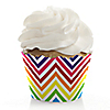 Chevron Rainbow - Everyday Party Cupcake Wrappers & Decorations