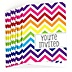Chevron Rainbow - Everyday Party Fill In Invitations - 8 ct