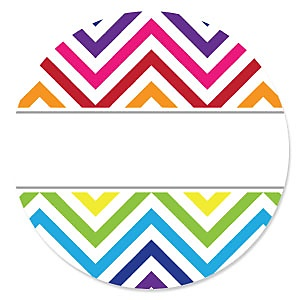 Chevron Rainbow - Party Theme