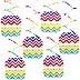 Chevron Rainbow - Baby Shower Hanging Decorations - 6 ct