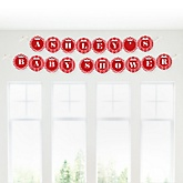 Chevron Red - Personalized Baby Shower Garland Letter Banners