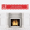 Chevron Red - Personalized Birthday Party Banners