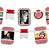 Chevron Red - Birthday Party Photo Garland Banners