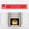 Chevron Red - Personalized Everyday Party Banners