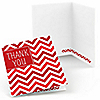 Chevron Red - Everyday Party Thank You Cards - 8 ct