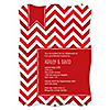 Chevron Red - Personalized Everyday Party Invitations